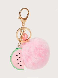 Charm for Bags/Keychains Pom Pom Headband, Fur Pom Pom, Kawaii Accessories, Handmade Hair Accessories, Fur Keychain, Keychains, Simple Iphone Wallpaper, Girls Furniture, Teenage Girl Gifts
