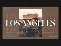 Los Angeles 🔌 by Nathan Riley for green chameleon on Dribbble Website Design Inspiration, Layout Inspiration, Graphic Design Inspiration, Typography Inspiration, Website Layout, Web Layout, Layout Design, Minimal Web Design, Modern Web Design