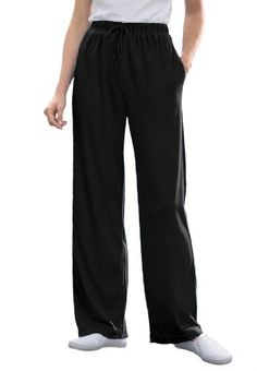 c4ada160c53 Woman Within Plus Size Tall Pants In Sports Knit Woman Within.  19.99 Plus Size  Pants
