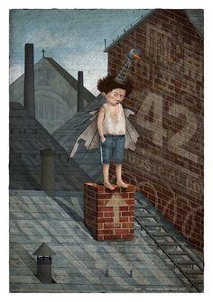 Paul considers flying by wonil, via Flickr Capital R, Painting & Drawing, Digital, Drawings, Artist, Illustrations, Artists, Illustration, Drawing