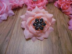 Stunning  Peach Fabric  Rose Vintage brooch by gypsycowgirlchic