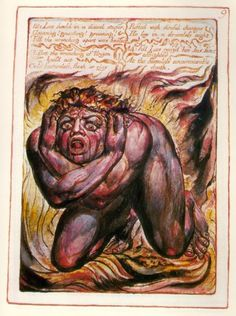 William Blake - Plate 9 from The Book of Urizen