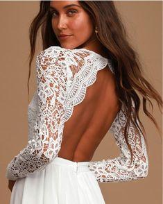 Little White Dresses, White Maxi Dresses, Lace Maxi, Ball Dresses, Ball Gowns, Dress Lace, Long White Lace Dress, Blue Wedding Dresses, Wedding Dress Trends