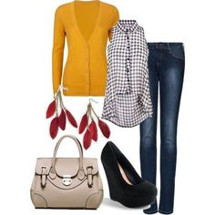 Fall houndstooth