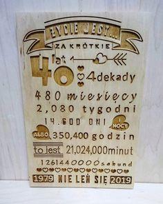 prezent na urodziny drewniana tabliczka