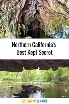 Natural Bridges in Calaveras County is a gorgeous nature hotspot with stunning limestone caverns and an underground swimming hole perfect for all nature lovers. Central California, Northern California, Best Bucket List, Famous Beaches, Natural Bridge, Best Kept Secret, All Nature, Swimming Holes, Bridges