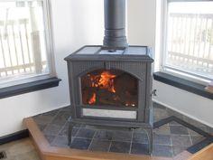 wood stove platform ideas | Bluegrass Mom's Perspective