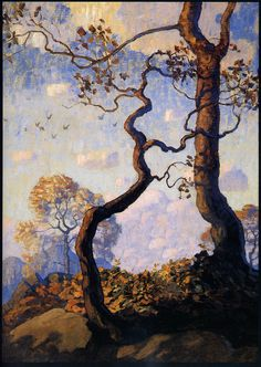 Gorgeous painting from N.C. Wyeth.  Courtesy of Plum Leaves @ http://www.flickr.com/photos/eoskins/