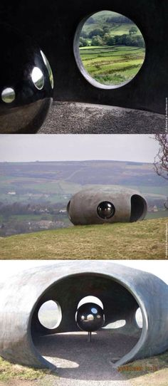 The Atom. Set in the landscape of Pendle, the Atom was designed by Peter Meacock