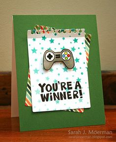 My Impressions: Simon Says Stamp May 2014 Card Kit - You're a Winner!