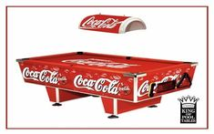 Coca-Cola pool table ...I WANT THIS!!!!