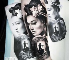 Geisha tattoo by Khail Tattooer