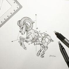 Resultado de imagem para tatuagem constelação de áries