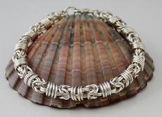 Silver Plated Bracelet - Byzantine Bracelet - Chainmaille Bracelet - Orbital Byzantine Bracelet - Silver Bracelet - Chain mail Jewellery by DelphiniCrafts on Etsy