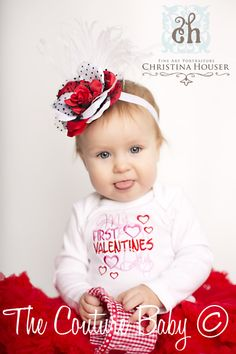 My First Valentine's Day Onesie - The Couture Baby