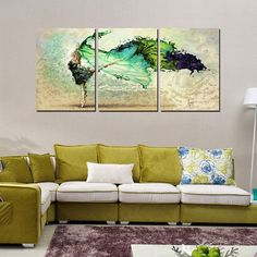 3 Piece Modern Wall Art Canvas Printed Painting Decorative Abstract Picture for Home Decor Picture Wall Art Canvas No Frame 3 Piece Painting, Wall Painting Decor, Home Decor Wall Art, Home Decor Pictures, Wall Art Pictures, Canvas Pictures, Canvas Art Prints, Canvas Wall Art, Canvas Paintings