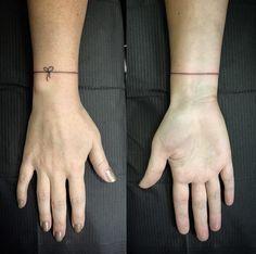 String Bracelet Tattoo by Sharnie Pilar