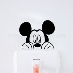 Buy Mickey mouse vinyl Wall decal children room light switch stickers Art Carving Switch Decor Stickers for Kids Bedroom Simple Wall Paintings, Wall Painting Decor, Diy Wall Art, Wall Decals For Bedroom, Kids Wall Decals, Initial Wall Art, Peacock Wall Art, Creative Wall Decor, Mickey Mouse