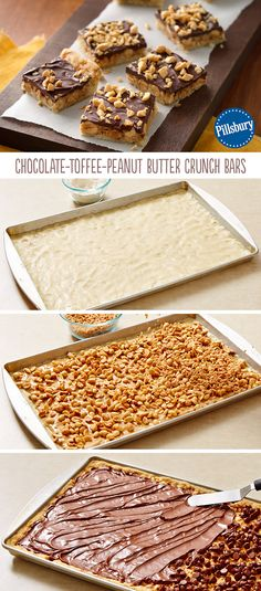 Use Pillsbury sugar cookie dough along with four other ingredients. Just Desserts, Delicious Desserts, Yummy Food, Dessert For Dinner, Dessert Bars, Pillsbury Sugar Cookie Dough, Cookie Recipes, Dessert Recipes, Bar Recipes