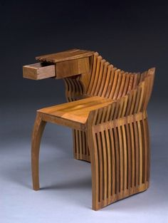 Chair with hand built drawer by James McNabb