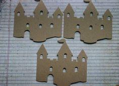 3 Bare chipboard die cuts Princess Castle Die cuts by studioCee, $1.25