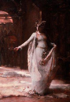 Ophelia (detail) by Henrietta Rae