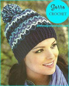 Vamos a preparar un hermoso gorro tejido al crochet, empezando por tejer un rectángulo y cambiando ...