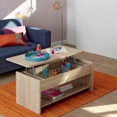 Table basse imitation chêne brossé avec tablette relevable Chêne brossé -  Fenn - Les tables basses 7b8f7d0e2233