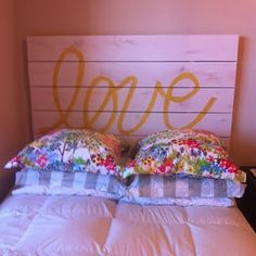 DIY love heardboard <3