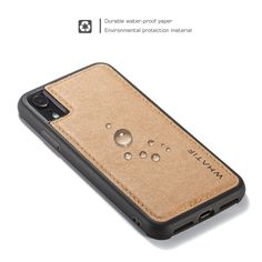 WHATIF Kraft Paper Shockproof Protective Case For iPhone XR Kraft Paper, Protective Cases, Gadgets, Iphone Cases, Brown, Stuff To Buy, Easy Access, Accessories, Apple