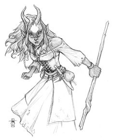 Nyanna - a deer spirit that have taken full physical form so she can live among the people of the southern Horu forest.