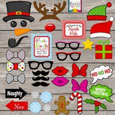 INSTANT DOWNLOAD Christmas Photo Booth Picture par PartySparkle                                                                                                                                                                                 Plus