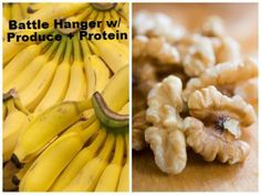 How To Never Get Hangry Ever Again via @/hphealthyliving/ // #banana #produce #protein #walnuts #hanger #hangry