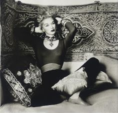 A portrait of Lisa Fonssagrives shot in Morocco by her husband Irving Penn, for Vogue in 1951.