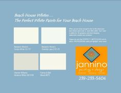 Sometimes white paint is just the ONLY paint that will not compete with your view but frames it. Cream White Room, Best Paint Colors, Cool Paintings, Frame It, Best Interior, White Paints, All The Colors, Beach House, Benjamin Moore