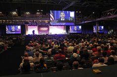 7.President Obama addresses the AARP convention via satellite in New Orleans. (Bill Haber / Associated Press / September 21, 2012)