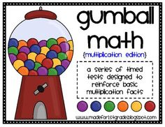 Gumball Math is a series of timed math tests designed to reinforce basic multiplication fact practice....