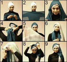 Stylish hijab tutorial from My Baju Muslim....