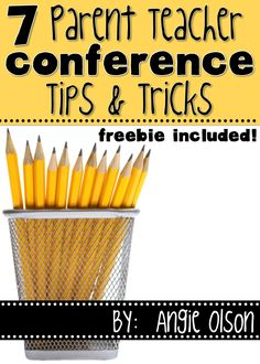 7 Parent Teacher Conference Tips & Tricks that will ensure a successful… First Year Teachers, Parents As Teachers, New Teachers, Elementary Teacher, Elementary Education, Upper Elementary, Parent Teacher Conference Forms, Parent Teacher Communication, Parent Teacher Conferences