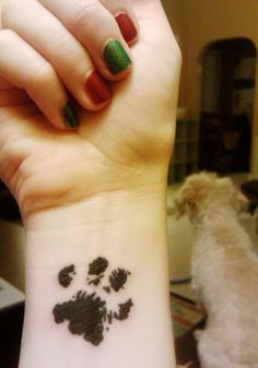 With my dogs paw print