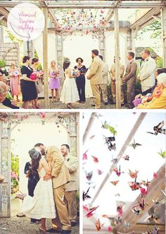 Handmade Paper Origami Weddings  The crane is considered a symbol of honor, peace and loyalty, and thought to bring prosperity to the marriage~