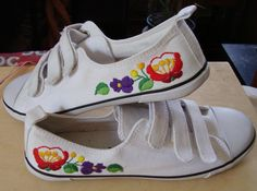 Shoes  with hungarian folk motive Kalocsa patterned embroidered with a hand.    Totally love - wrong size though :(