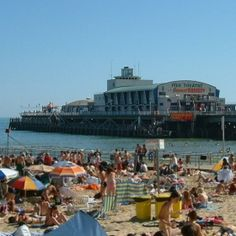 Bournemouth Beach - Bournemouth is a large coastal resort town in the ceremonial county of Dorset, England.