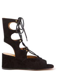 Chloé Gladiator Wedge Sandal, $1,075; kirnazabete.com     - ELLE.com