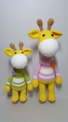 This is a crochet pattern PDF and not the finished doll Following this pattern Giraffe will be approximately 24 cm and 30cm. The pattern is available in English Materials Yarn : Hera cotton/6ply (cotton 55%,Acrylic 45%) Marvel/8ply (Acrylic 100%) Colors: Yellow,Brown,White,Green,Pink,Purple,Orange Hook: 2.0mm and 2.5mm (or accordance with the yarn you use) 7mm and 8mm safety eyes Fiberfill for stuffing Tapestry needle Scissors Copyright ⓒ 2017 by MK_RHO all rights reserved This ...