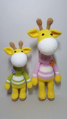 crochet pattern amigurumi Giraffe by MKRHO on Etsy