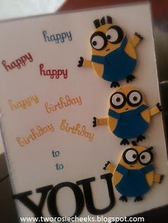 Minions Birthday Card. I know just the friend to make this for
