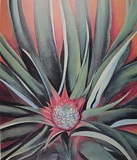 Pineapple- Georgia O'Keeffe 1939.  Art Experience NYC  www.artexperiencenyc.com/social_login/?utm_source=pinterest_medium=pins_content=pinterest_pins_campaign=pinterest_initial