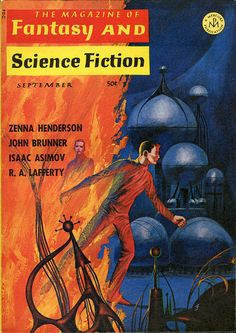 scificovers:  The Magazine of Fantasy and Science Fiction September 1966. Cover by Jack Gaughan.