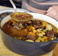 Rich Beef and Mushroom Stew with Mustard Mash   recipe from the book 'Mary Berry Cooks'   via Daily Mail